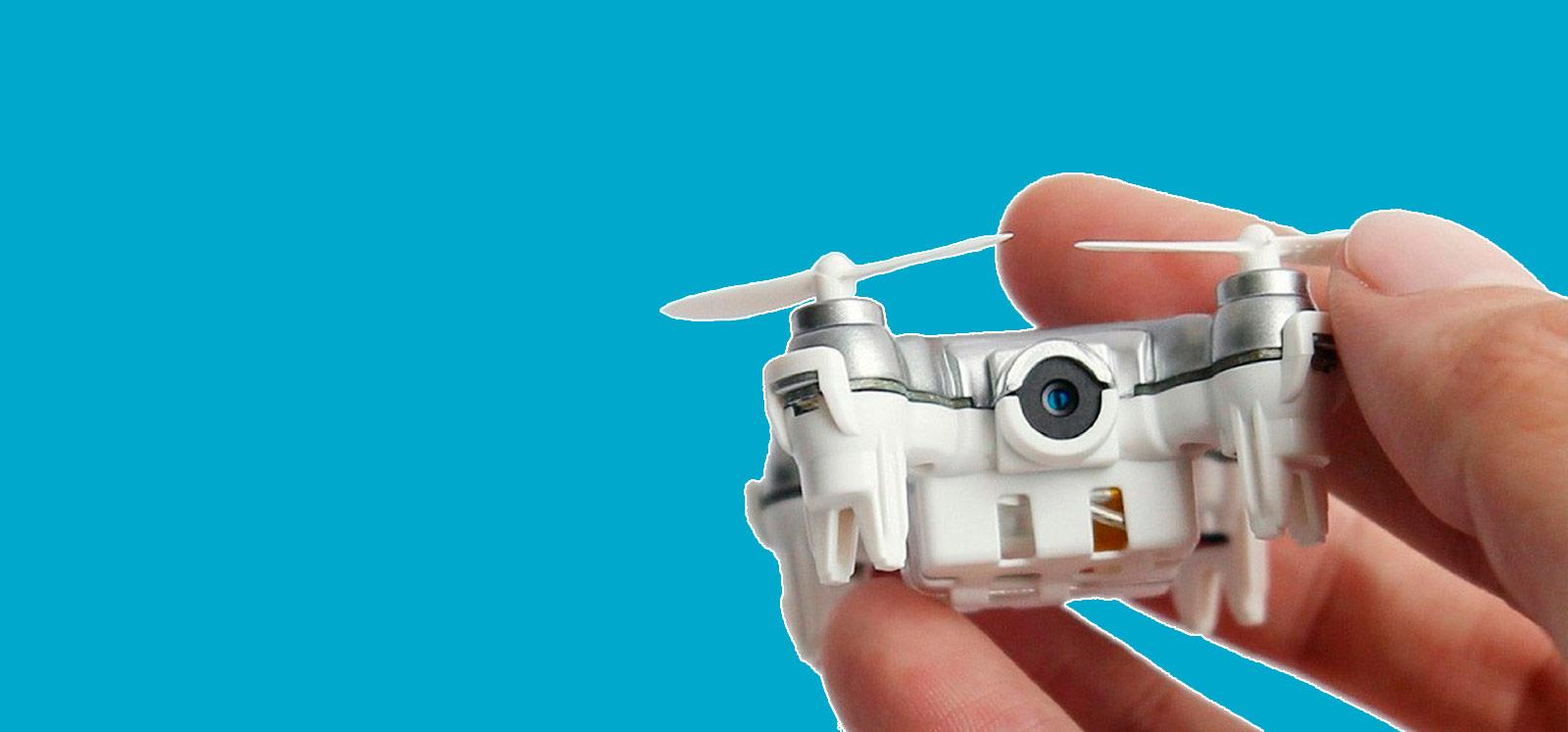 mini dron con cámara de iniciación