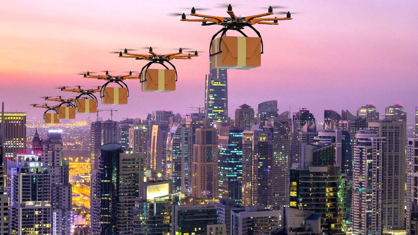 paquetería dron